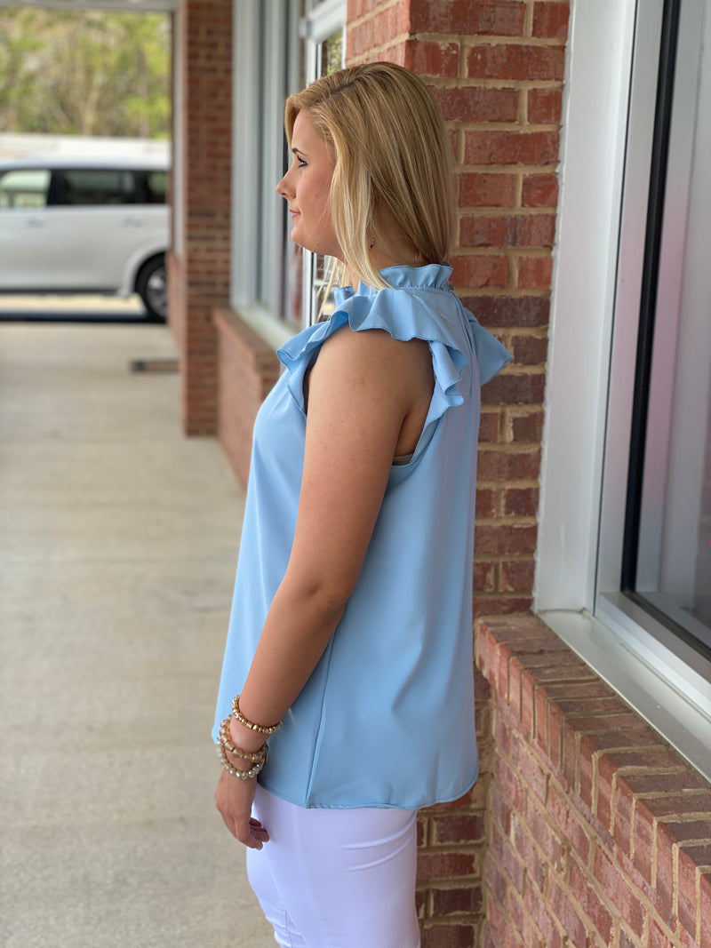 All That Matters To Me Blue Top-Shop-Womens-Boutique-Clothing