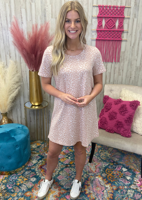 Greatest Feeling Blush Spotted Dress-Shop-Womens-Boutique-Clothing