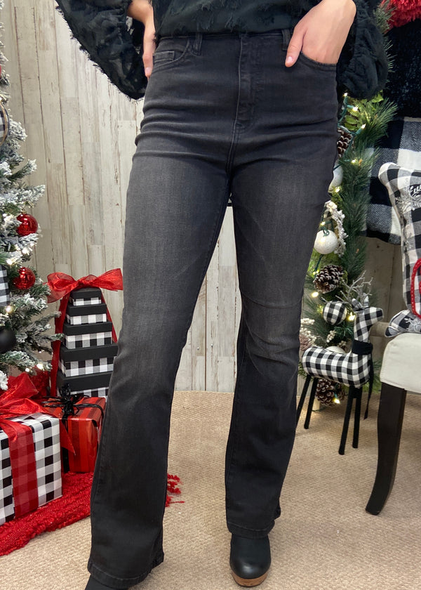 Something About These Black Flare Jeans-Shop-Womens-Boutique-Clothing