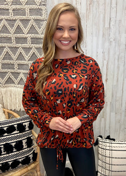 Wildly Loved Brick Animal Print Top-Shop-Womens-Boutique-Clothing