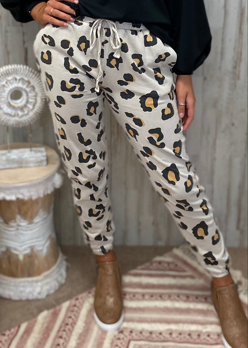 Hidden Trail Khaki Leopard Pants-Shop-Womens-Boutique-Clothing