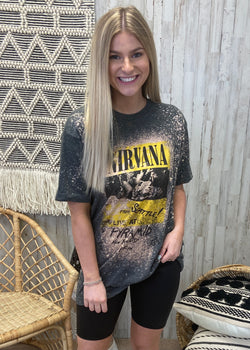Nirvana Band Tee-Shop-Womens-Boutique-Clothing