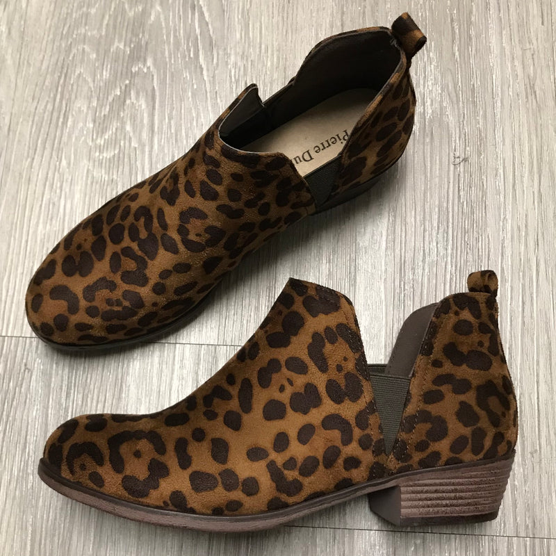 Brooke Leopard Slip-On Booties-Shop-Womens-Boutique-Clothing
