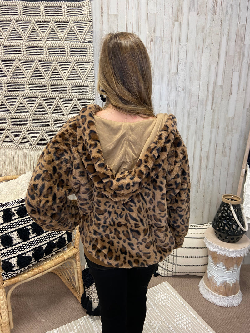 Spotted Perfection Brown Leopard Jacket-Shop-Womens-Boutique-Clothing