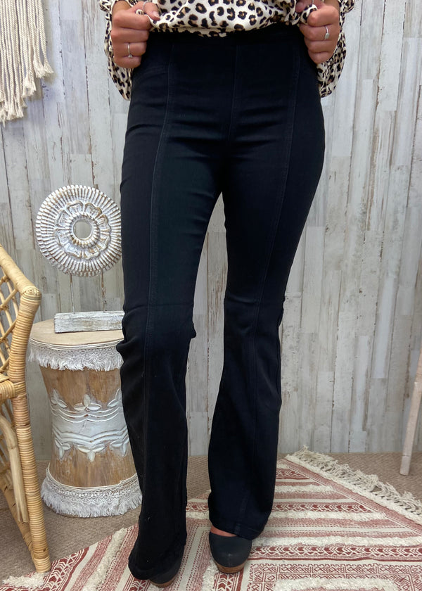 Knock It Out Black Super Flare Jeans-Shop-Womens-Boutique-Clothing