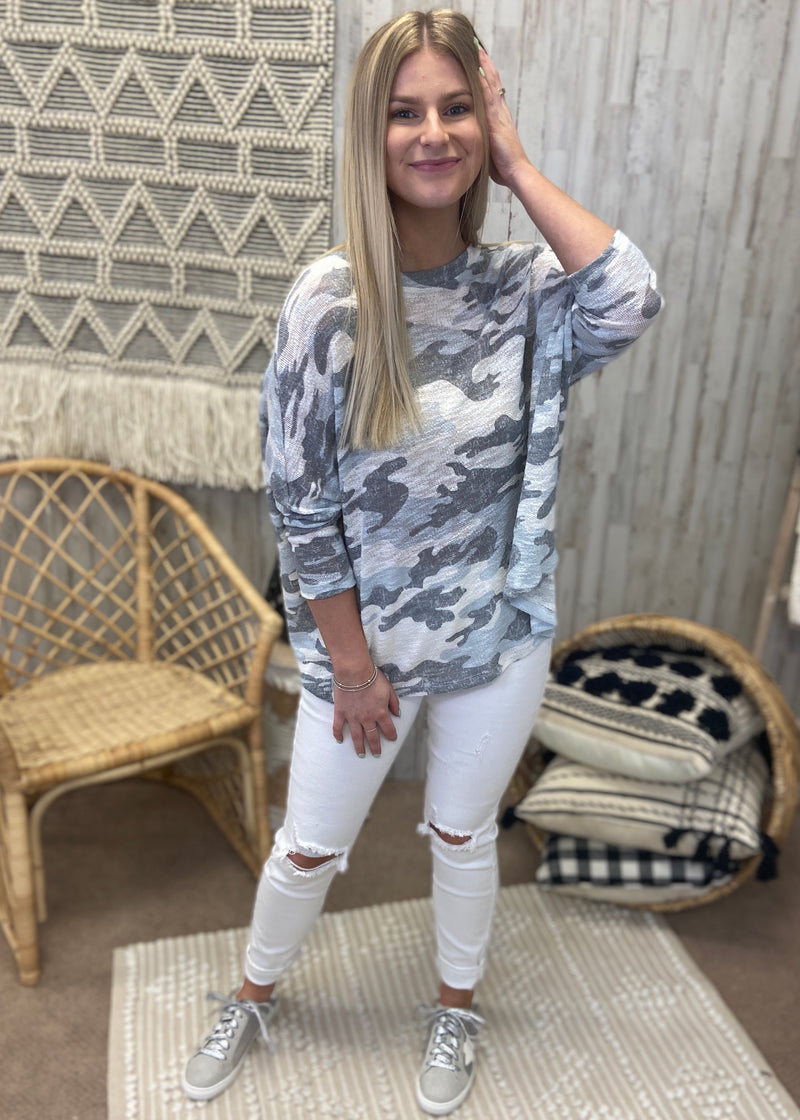 In The Zone White Camo Top-Shop-Womens-Boutique-Clothing
