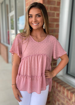 Everlasting Fairytale Pink Dotted Top-Shop-Womens-Boutique-Clothing