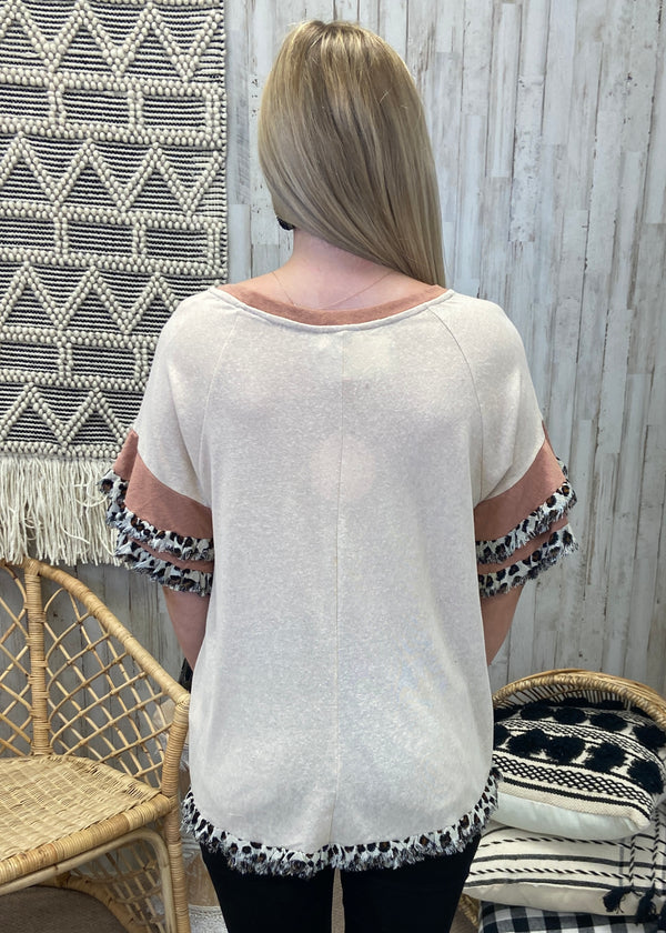 Worth The Tassel Olive Top