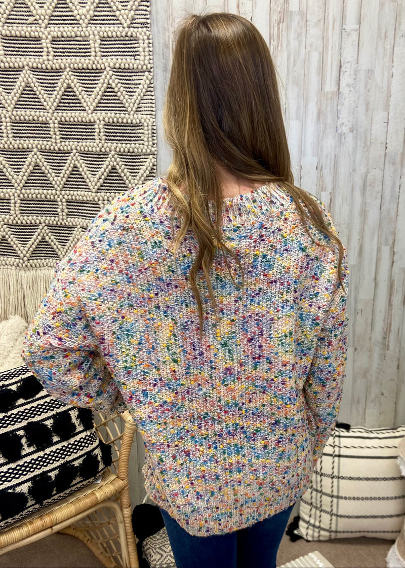Join The Party Ivory Confetti Sweater-Shop-Womens-Boutique-Clothing
