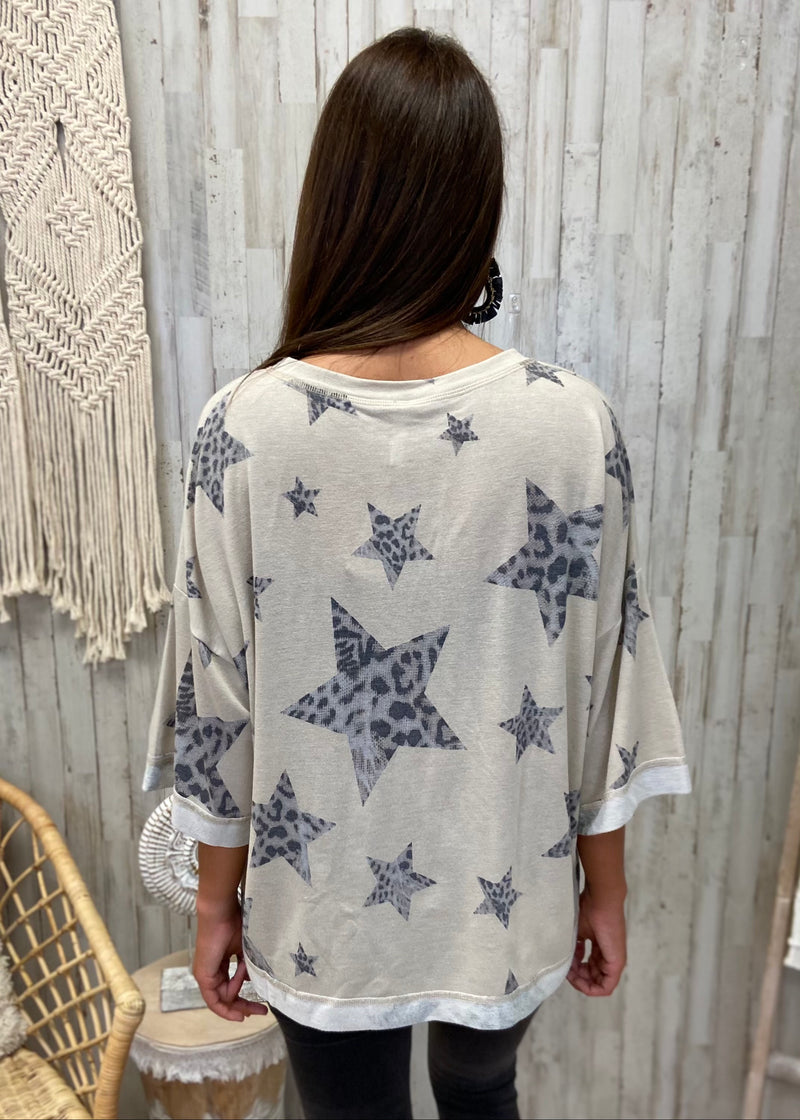 Worth The Tassel Heather Gray Top
