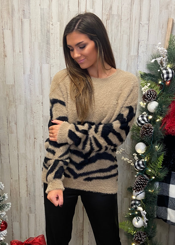 Break The Mold Sage Popcorn Sweater