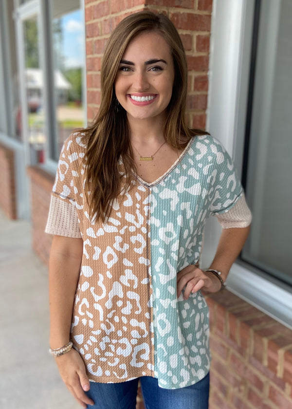 Fixed On You Taupe/Sage Top-Shop-Womens-Boutique-Clothing