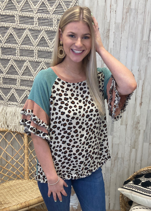Won't Stop The Chase Sage Mix Top-Shop-Womens-Boutique-Clothing