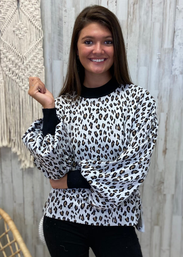 It's All The Rage White Leopard Top-Shop-Womens-Boutique-Clothing