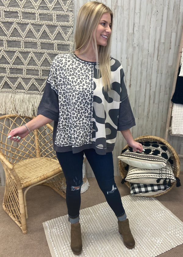 Lovely Chaos Ash Leopard Top-Shop-Womens-Boutique-Clothing