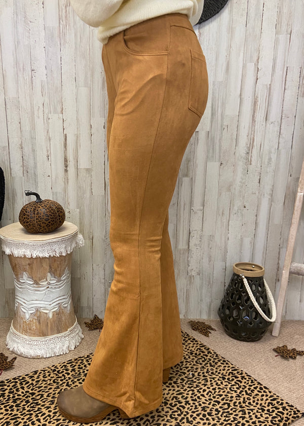 Flashback Camel Suede Pants-Shop-Womens-Boutique-Clothing