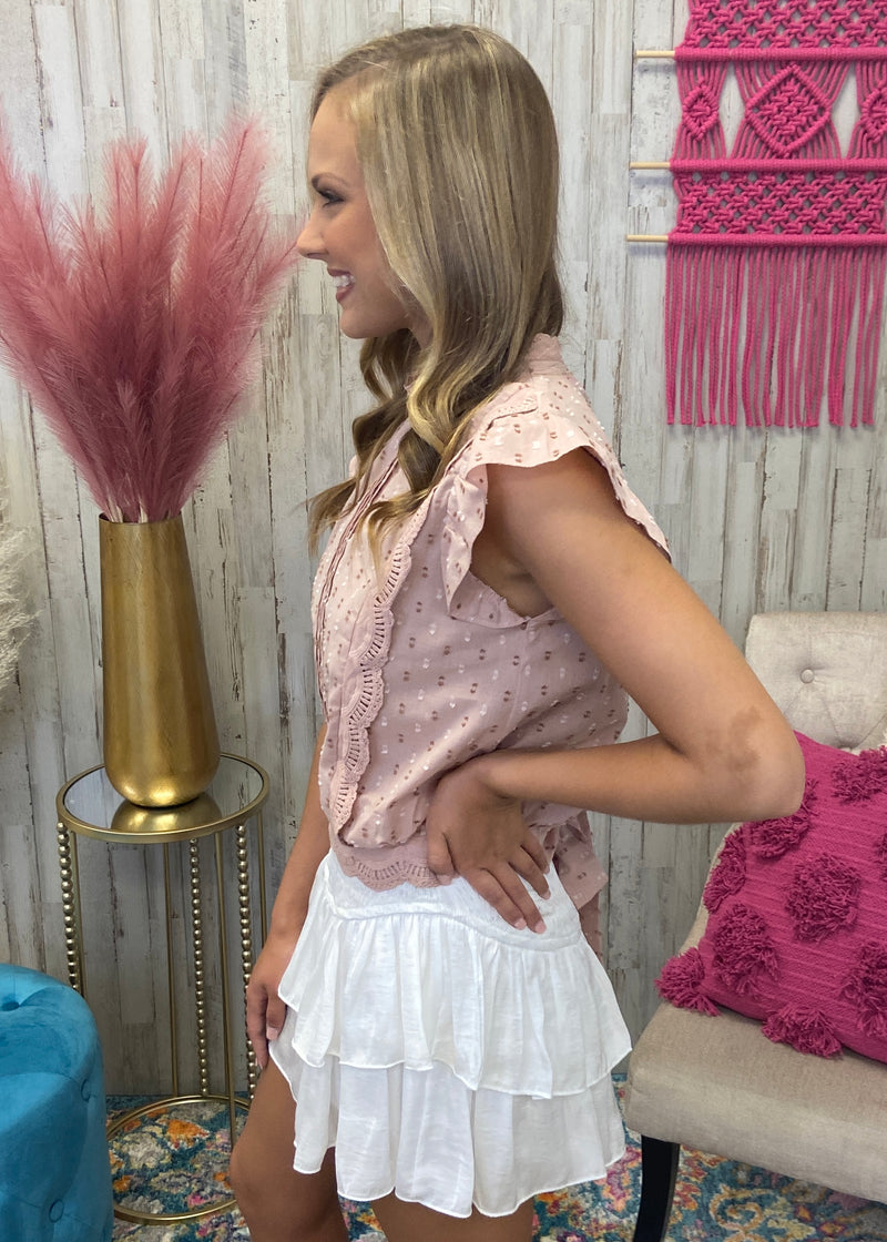 Sweet Disposition Blush Dot Top-Shop-Womens-Boutique-Clothing