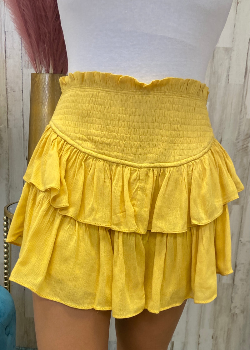 Best Kept Secret Butter Smocked Skort-Shop-Womens-Boutique-Clothing