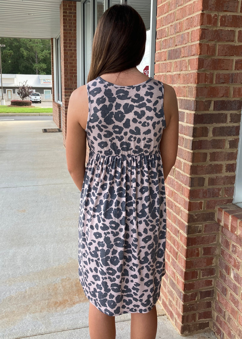 Adventure Starts Here Animal Babydoll Dress-Shop-Womens-Boutique-Clothing