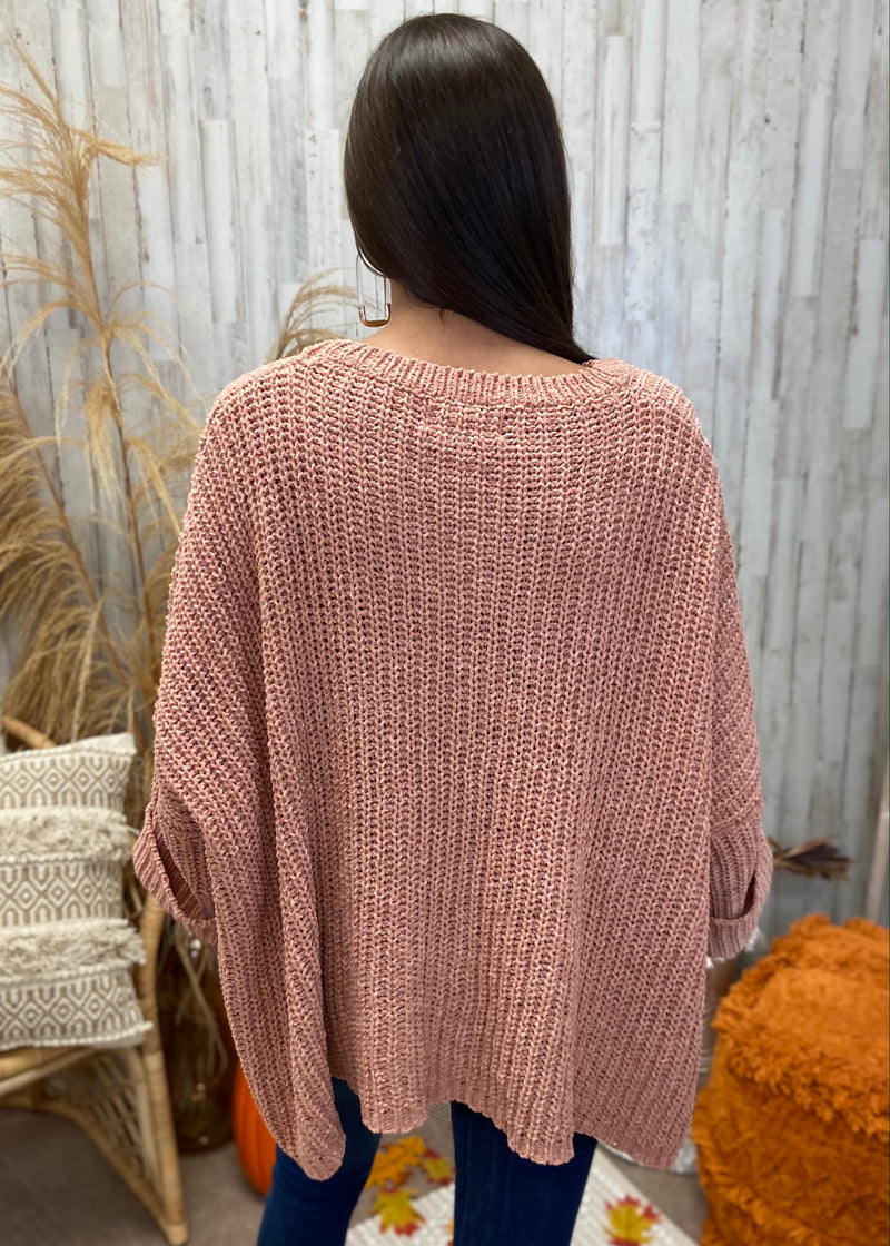 Fall Session Blush Sweater-One Size-Shop-Womens-Boutique-Clothing