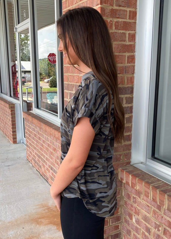 Kick The Dust Up Moss Camo Top-Shop-Womens-Boutique-Clothing