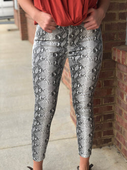 Your Favorite Python Snake Print Skinny Jeans-Shop-Womens-Boutique-Clothing