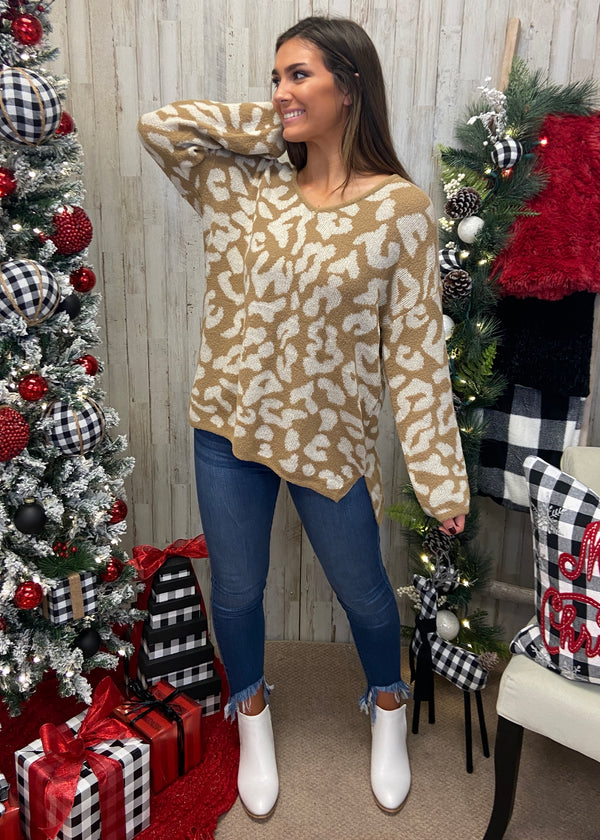 Just Your Type Cream Leopard Sweater-Shop-Womens-Boutique-Clothing