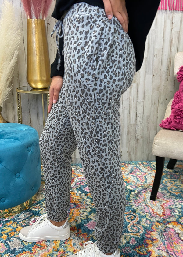 Don't Stare Blue Leopard Joggers-Shop-Womens-Boutique-Clothing