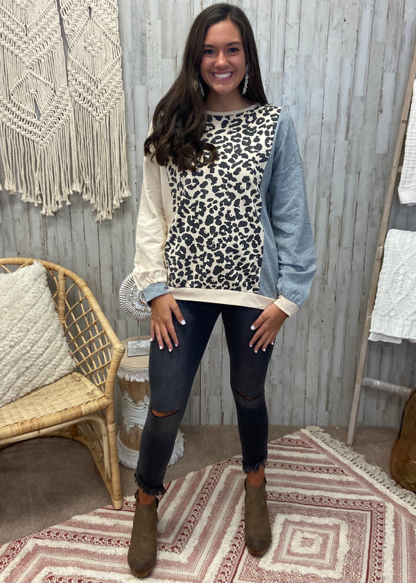 Chase A Feeling Grey Leopard Top-Shop-Womens-Boutique-Clothing
