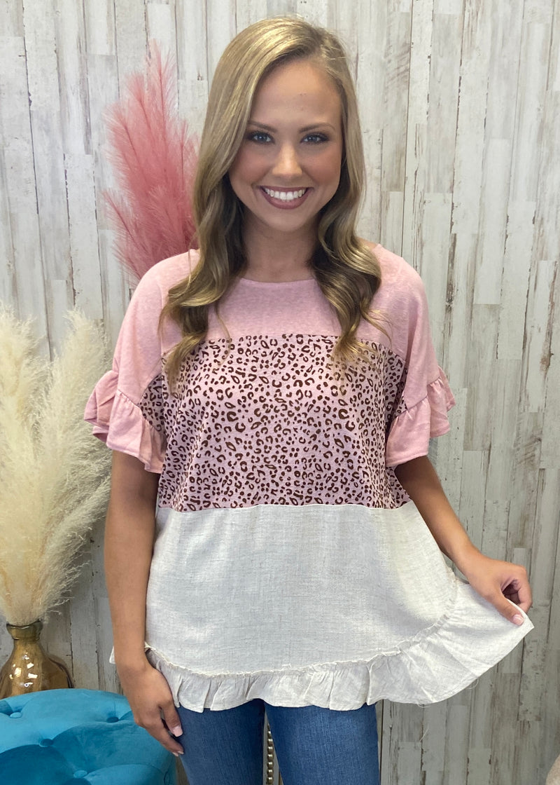 Modern Wild Blush Leopard Top-Shop-Womens-Boutique-Clothing