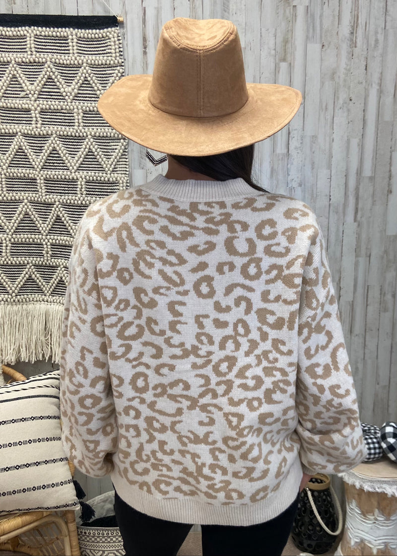 Running Wild For You Ivory Leopard Sweater-Shop-Womens-Boutique-Clothing