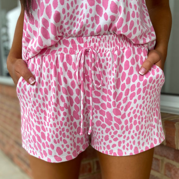 About Town Pink Cheetah Shorts-Shop-Womens-Boutique-Clothing