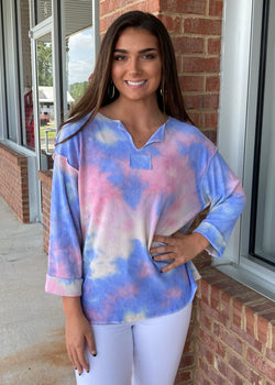 Catch These Rays Ribbed Tie Dye Top-Shop-Womens-Boutique-Clothing