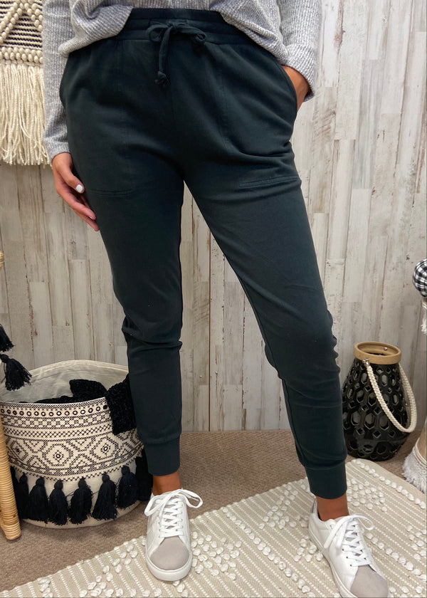 Time To Relax Black Joggers-Shop-Womens-Boutique-Clothing