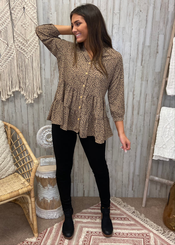 Much More To Love Brown Leopard Top-Shop-Womens-Boutique-Clothing