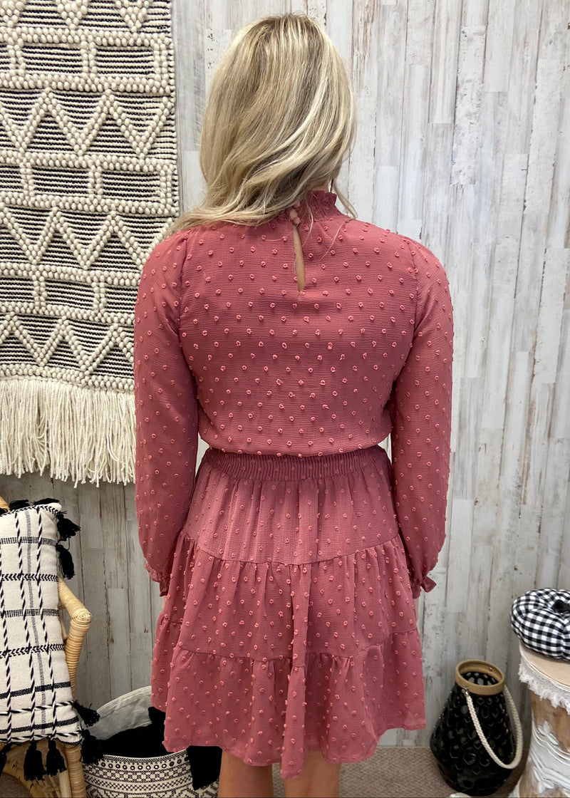 Remember When Dusty Pink Smocked Dress-Shop-Womens-Boutique-Clothing