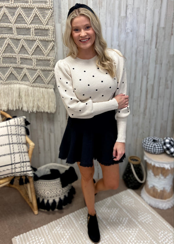Dot Of Perfection Cream Sweater-Shop-Womens-Boutique-Clothing