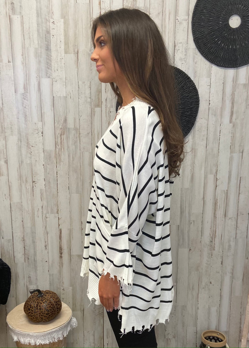 Cozy Stay White Striped Sweater-Shop-Womens-Boutique-Clothing
