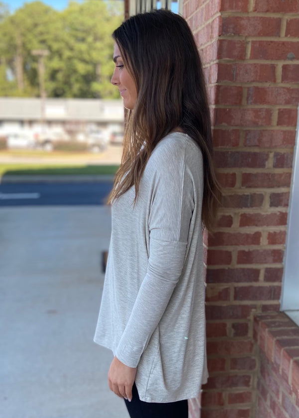 Center Of Attention Oatmeal Top-Shop-Womens-Boutique-Clothing