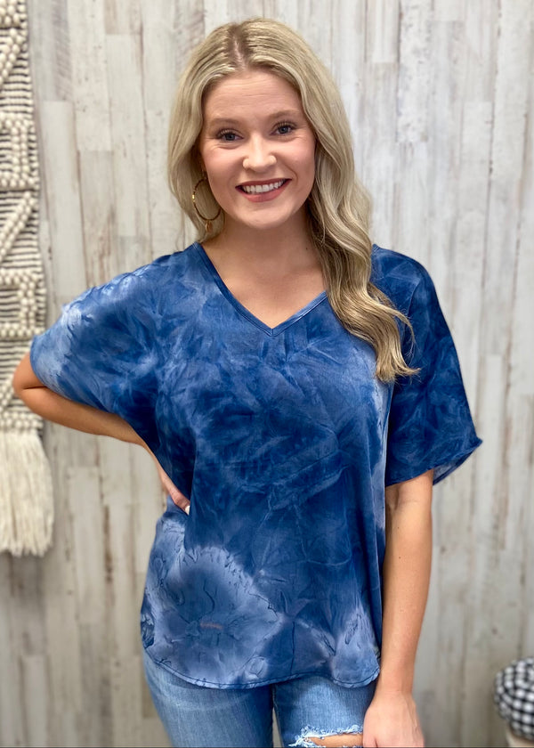 Finding Hope Navy Tie Dye Top-Shop-Womens-Boutique-Clothing