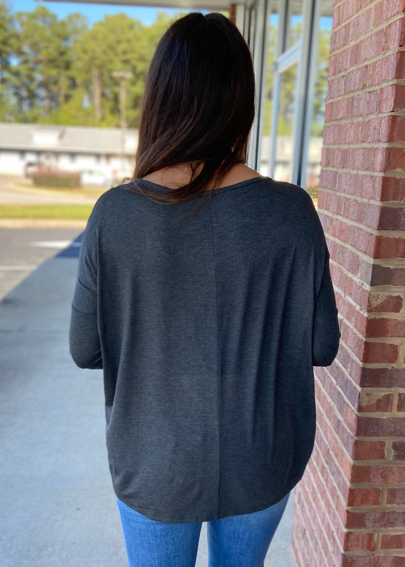 Center Of Attention Charcoal Top-Shop-Womens-Boutique-Clothing