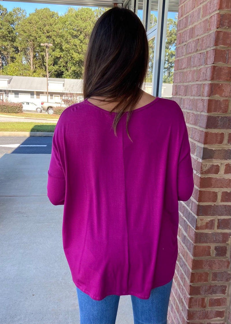 Center Of Attention Magenta Top-Shop-Womens-Boutique-Clothing