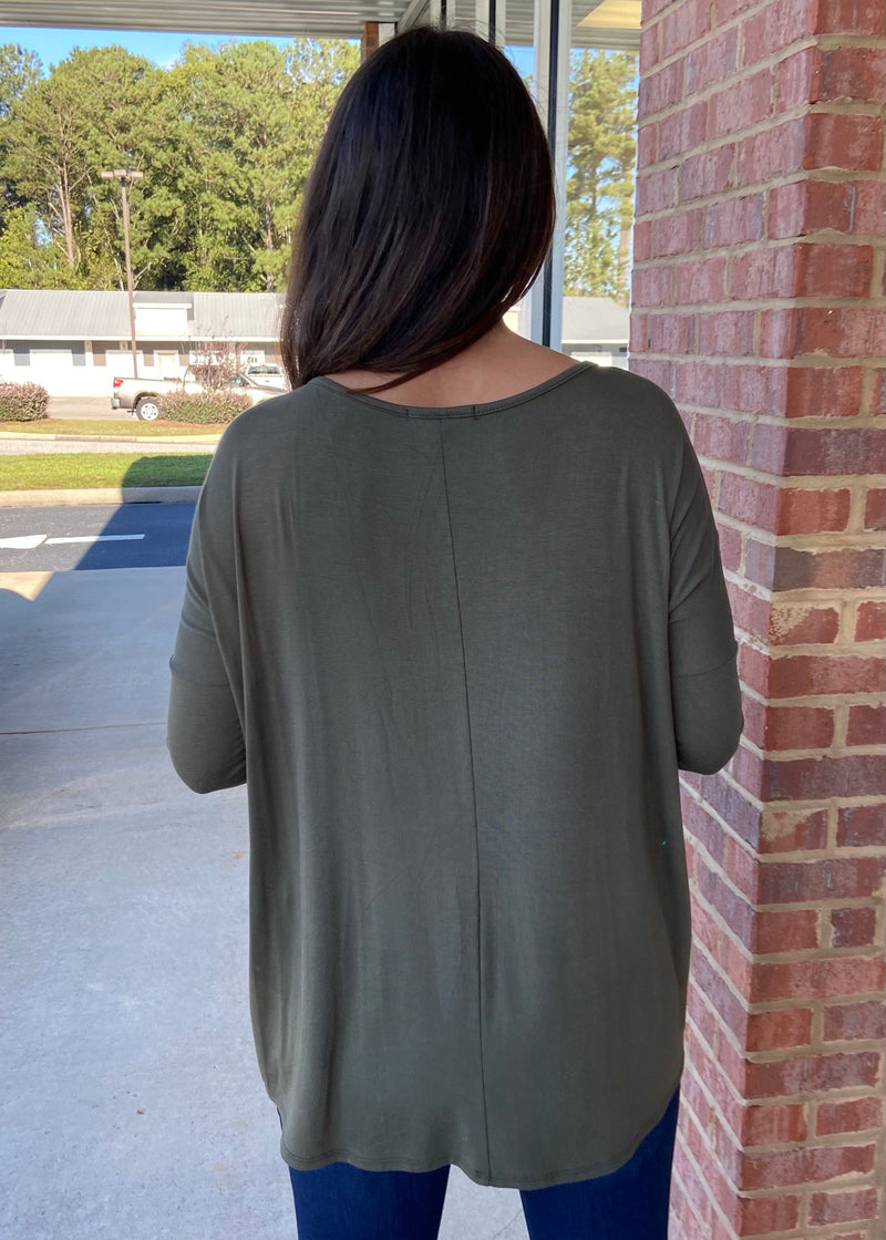 Center Of Attention Olive Top-Shop-Womens-Boutique-Clothing