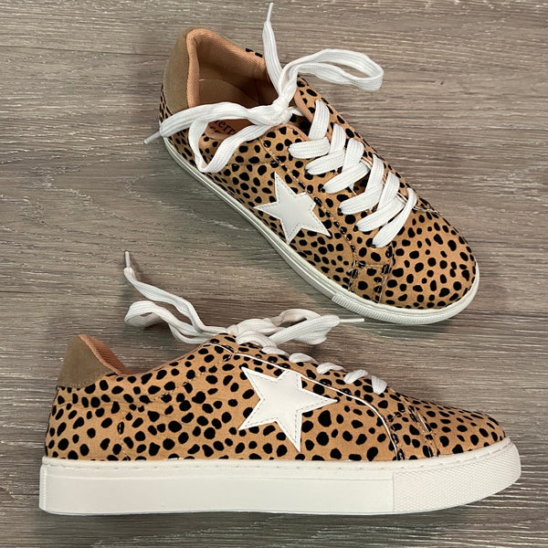 Hadley Cheetah Star Sneakers-Shop-Womens-Boutique-Clothing