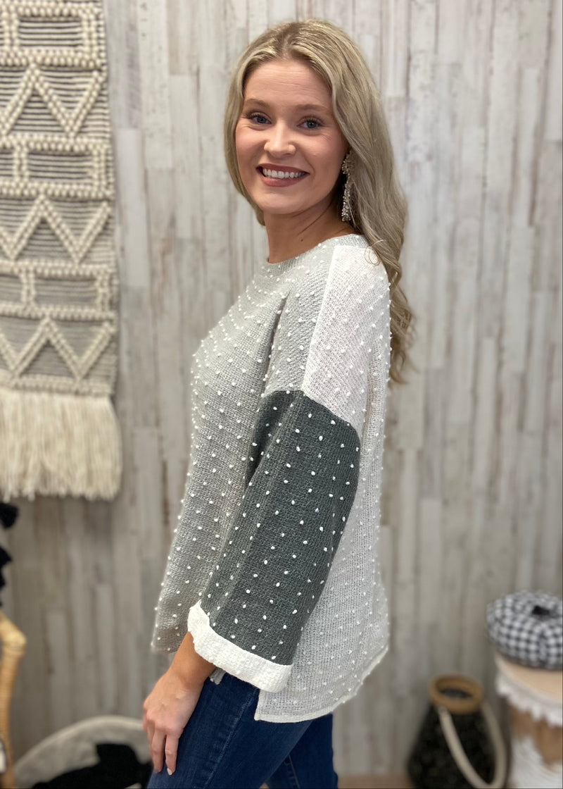 Endless Autumn Sage Dot Sweater-Shop-Womens-Boutique-Clothing