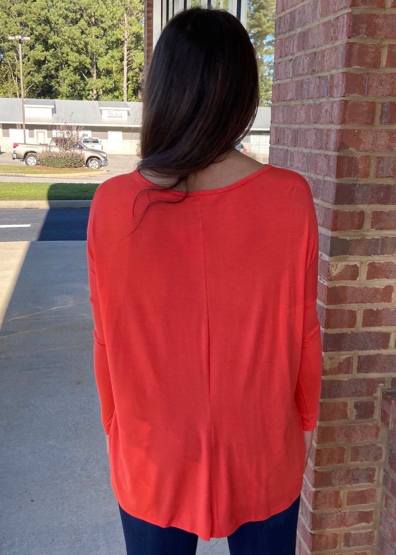 Center Of Attention Orange Top-Shop-Womens-Boutique-Clothing
