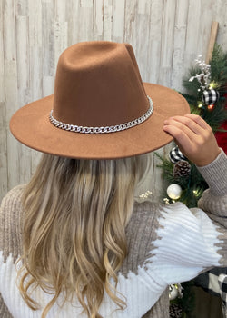 Heading Out Khaki Chain Hat-Regular-Shop-Womens-Boutique-Clothing