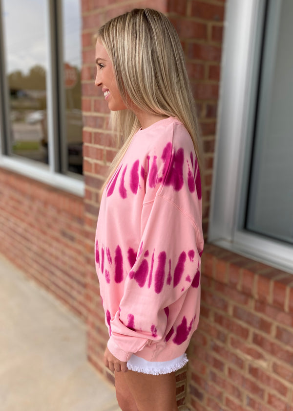 Mystical Muse Pink Tie Dye Sweatshirt-Shop-Womens-Boutique-Clothing