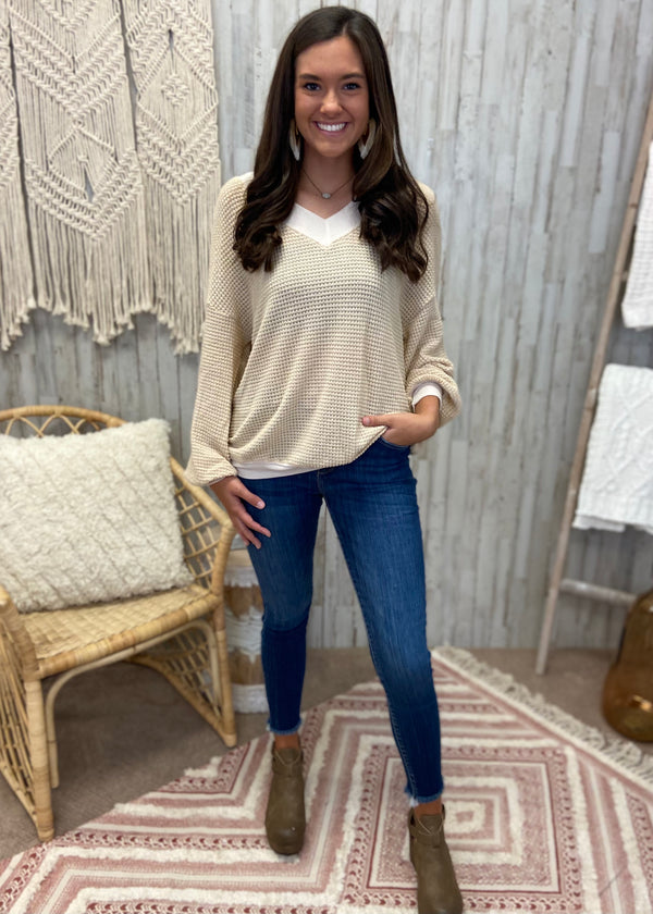 Wish For Forever Coral / Gray Top