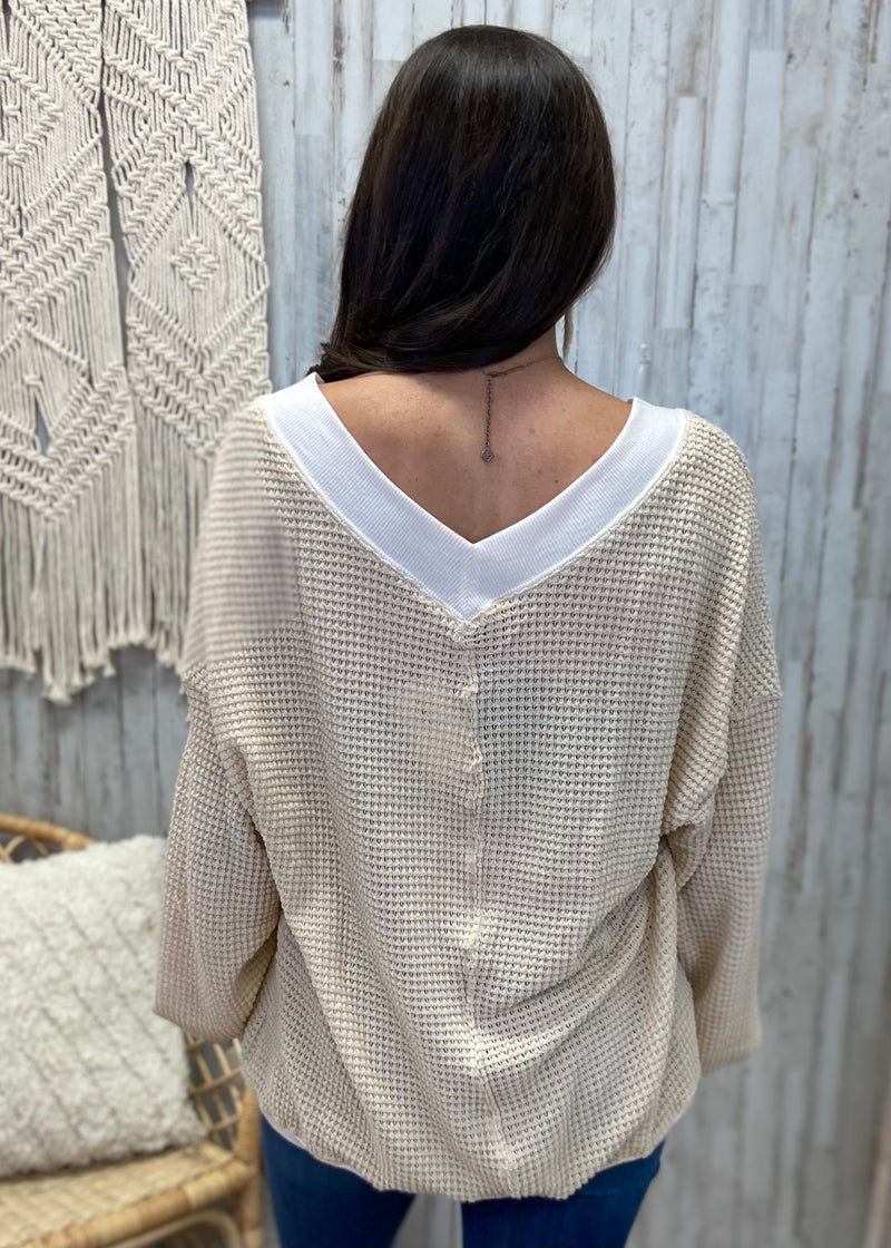 Most Loved Natural Waffle Top-Shop-Womens-Boutique-Clothing